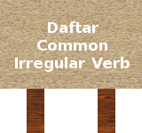 daftar common irregular verbs