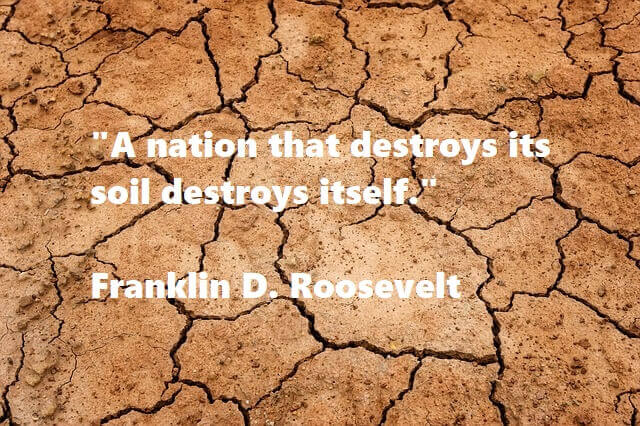 Kata Mutiara Bahasa Inggris tentang Bumi (Earth): A nation that destroys its soil destroys itself. Franklin D. Roosevelt